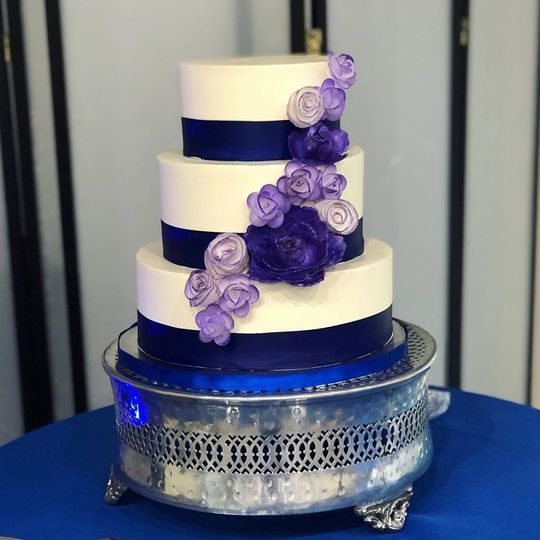Royal blue and purple cake