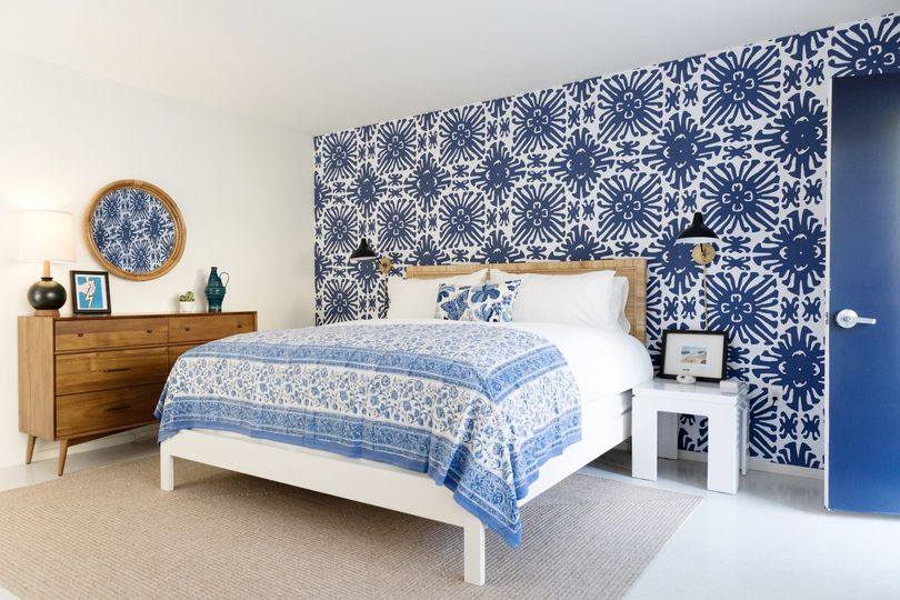 Signature blue-and-white palette
