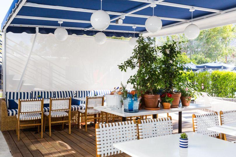 The restaurant patio