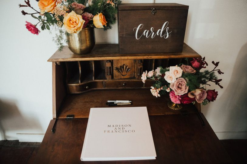Wedding cards and guest book