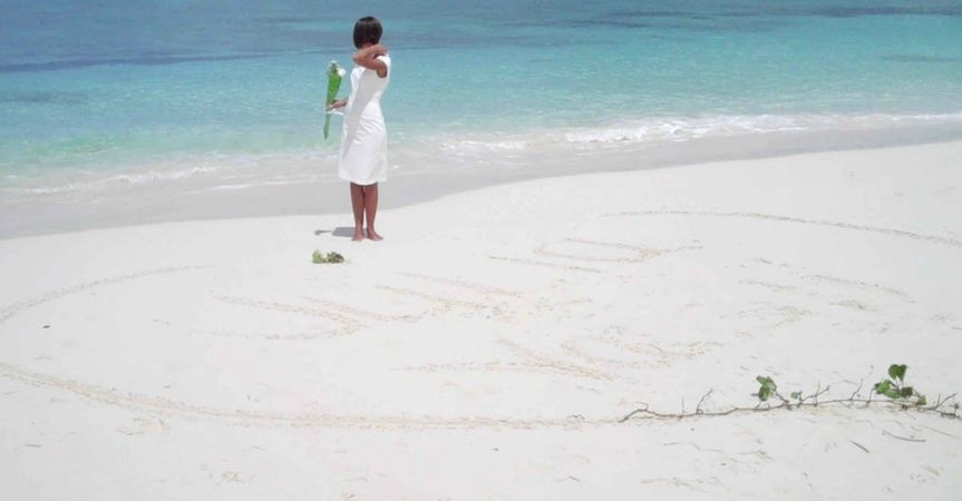 Bahamas Wedding Ceremony on Nuptial Beach, Cable Beach in Nassau Bahamas with wedding officiant...