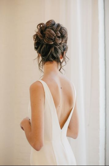 Back view of an updo