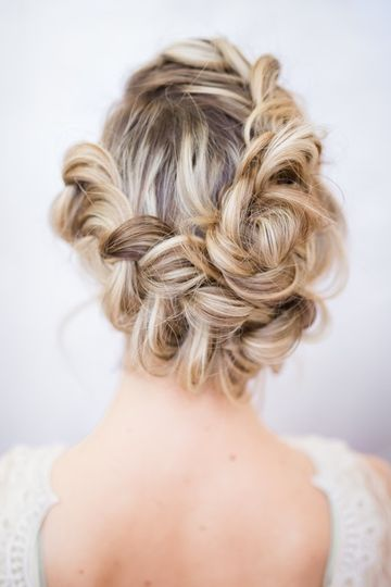 Braided updo details