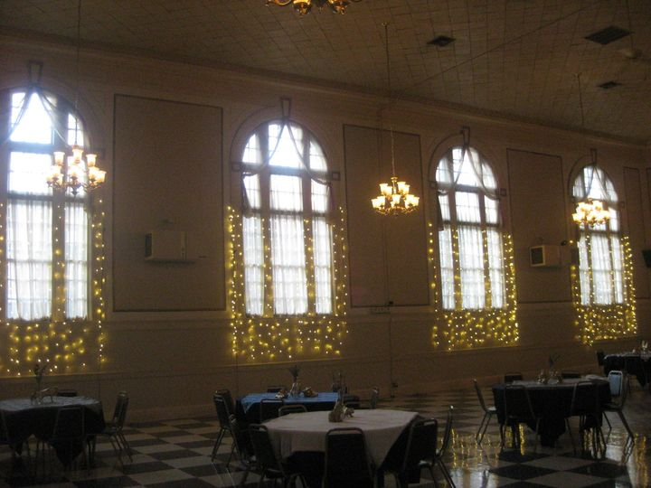Windows at the reception
