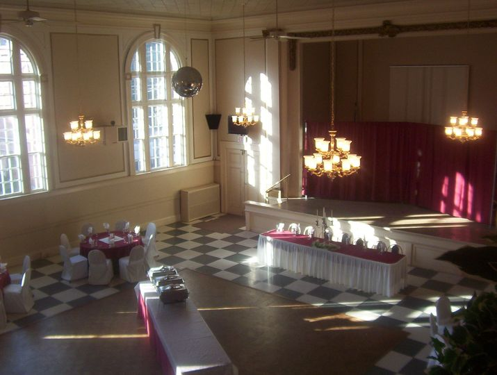 Top view of the hall