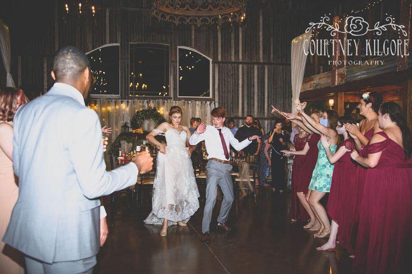 Bride & Groom Dance Down