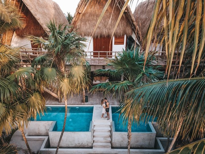 Relax in a luxury resort.