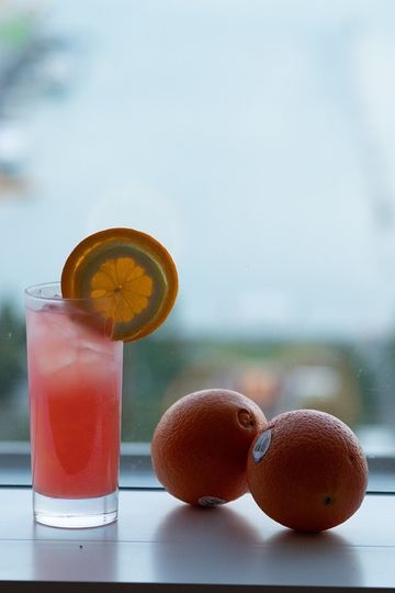 Rum Punch with city view