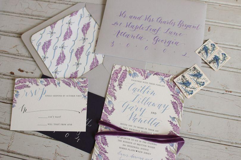 Custom Lavender Wedding Suite