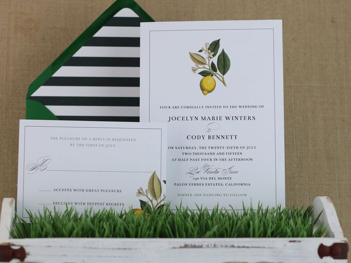 Tmx 1435074284975 Lemon Fields Suite Dover wedding invitation