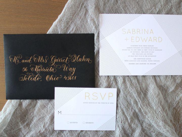Tmx 1435074312891 Modern Lines Suite Dover wedding invitation