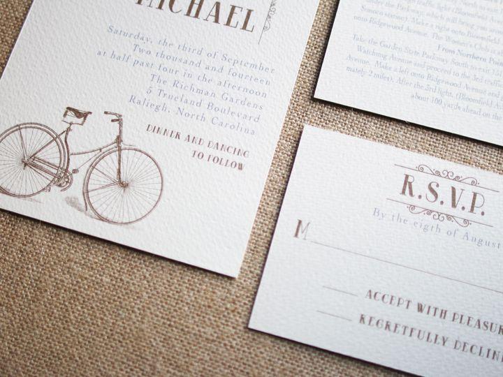 Tmx 1435074342405 Vintage Cycle Dover wedding invitation