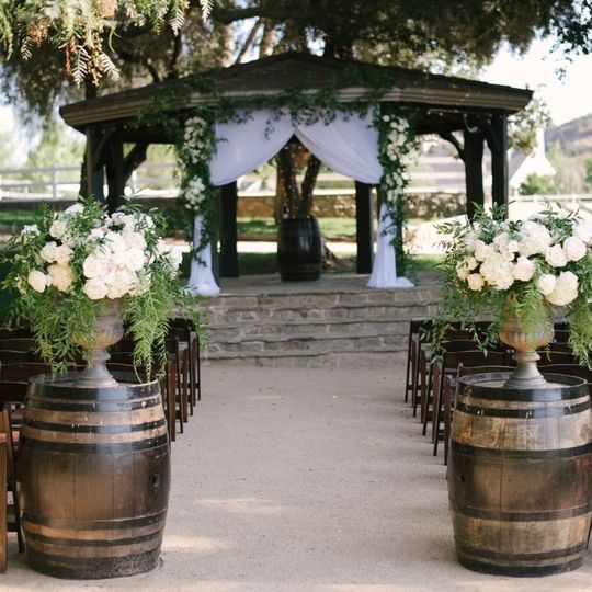 Gazebo Vineyards Wedding