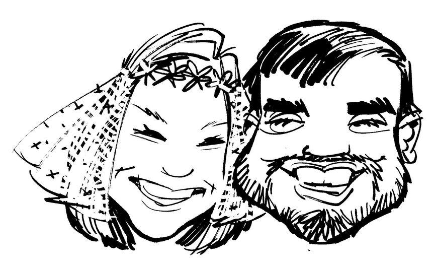 Caricature for sticker