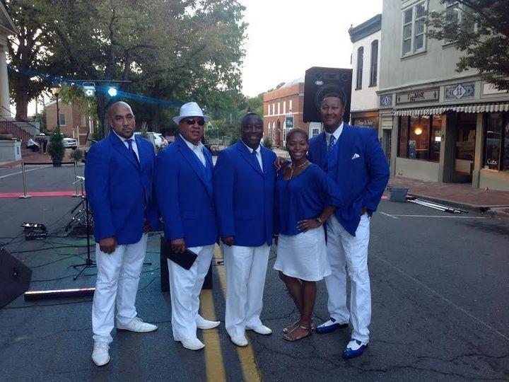 Tmx 1446675241596 Blue And White Combo Shot Hanover wedding band