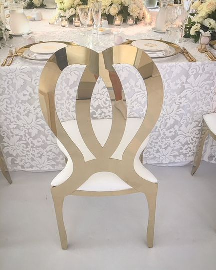 Gold infinity chair