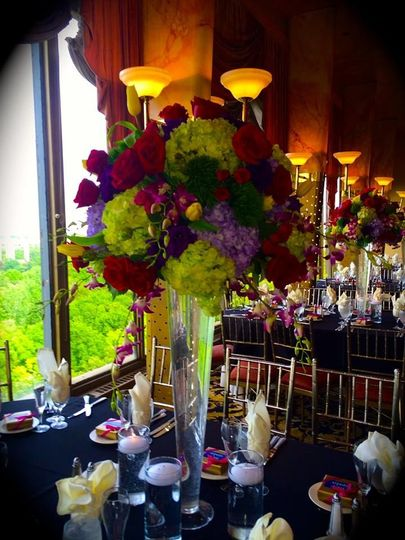 Table setup with center piece
