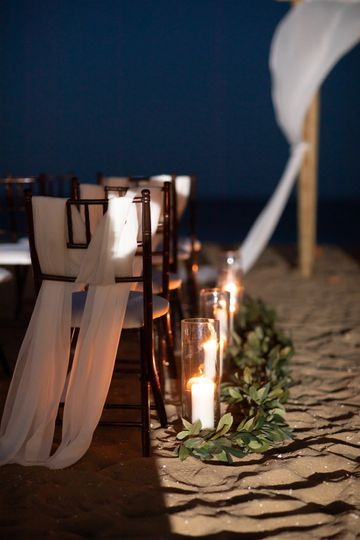 Moonlit beach ceremony