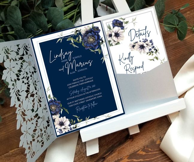 Navy and Silver with Luminous