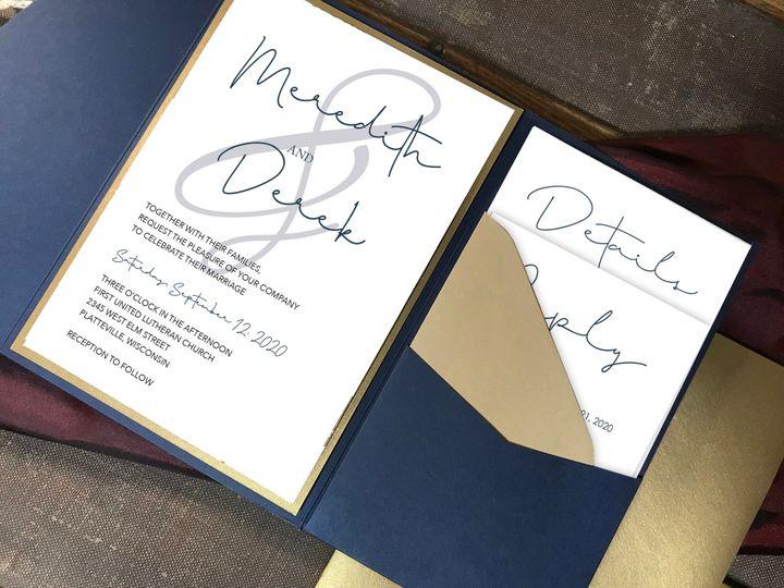 Tmx Navy Folder Mockup W Wood Typog Ampersand 51 1894045 159052556021234 Davenport, IA wedding invitation