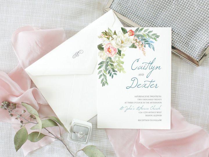 Tmx Photo W Fabric Purse Rings Blue Magnolia Corner Swag 51 1894045 159059467950160 Davenport, IA wedding invitation
