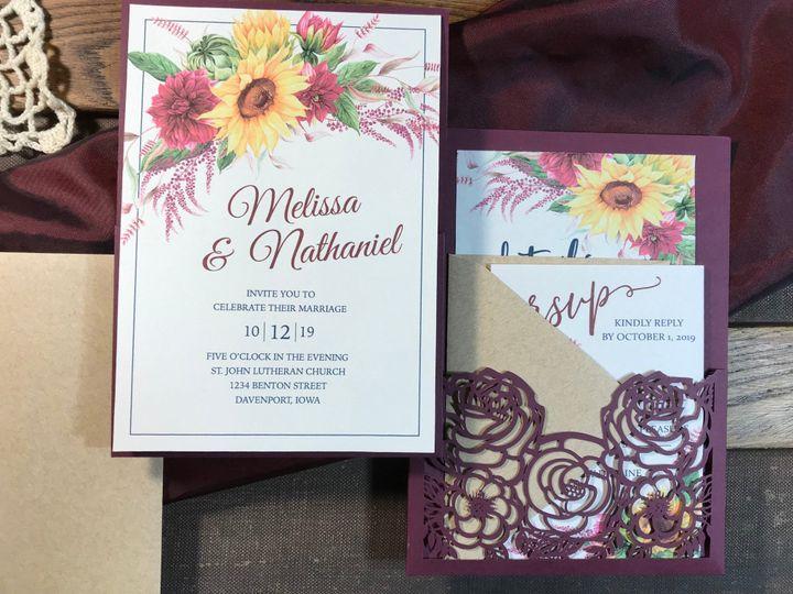 Tmx Rustic Sunflower3 51 1894045 159052569937679 Davenport, IA wedding invitation