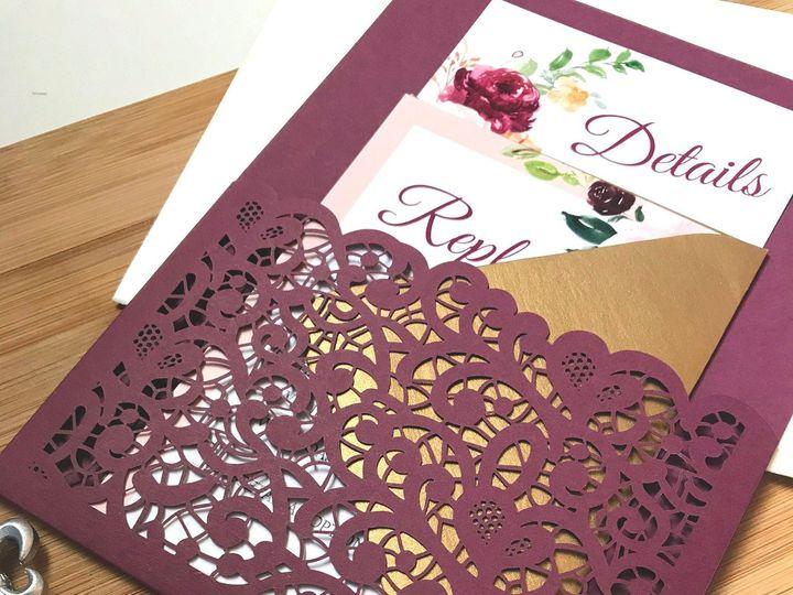 Tmx Saffron Side Inv Board Lace Pocket 51 1894045 159093820923095 Davenport, IA wedding invitation