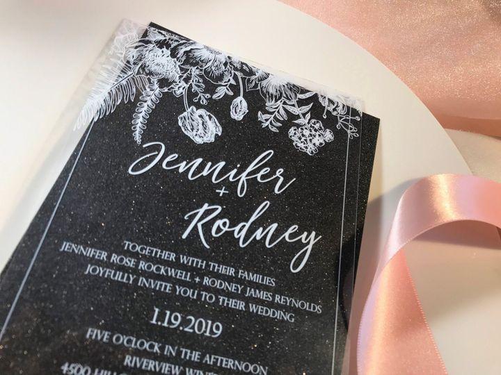 Tmx Vintage Floral Black N Plate Close 51 1894045 159054453227856 Davenport, IA wedding invitation