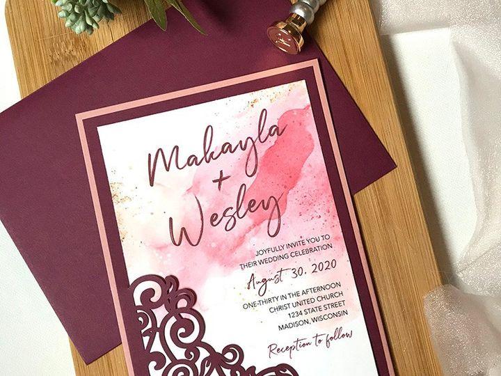 Tmx Watercolor Typog Horz Set Wood Web 51 1894045 159052495327891 Davenport, IA wedding invitation