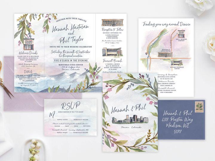 Tmx Hannahphil Invitesuite Mockup 51 1915045 158584448878481 Wisconsin Dells, WI wedding invitation
