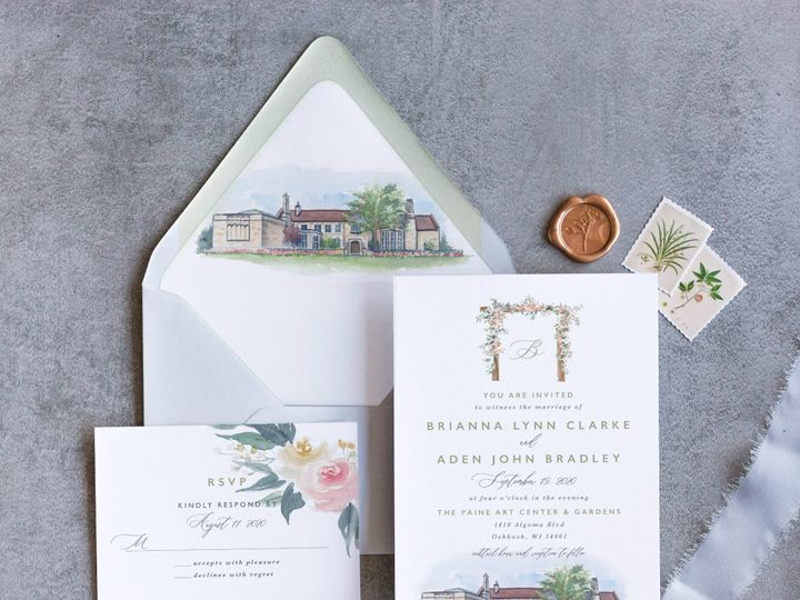 Tmx Paineart Mockup 2 51 1915045 158584349585622 Wisconsin Dells, WI wedding invitation