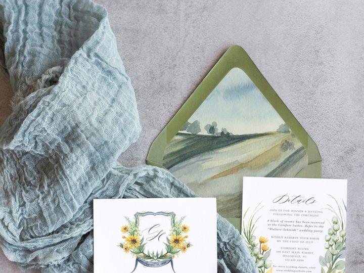 Tmx Sunflower Mockup2 51 1915045 158584419887971 Wisconsin Dells, WI wedding invitation