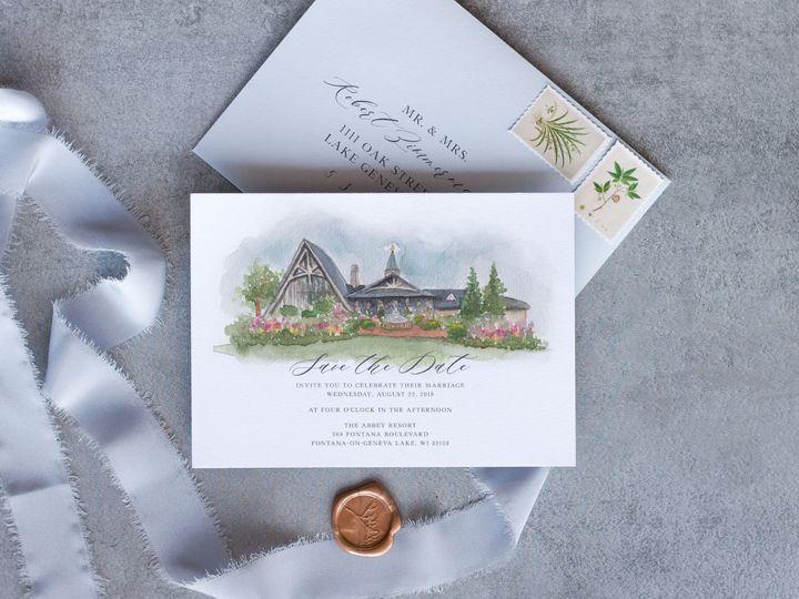 Tmx Theabbey Savethedate 51 1915045 158584339596434 Wisconsin Dells, WI wedding invitation