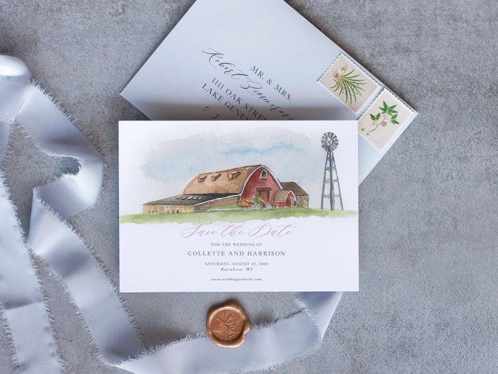 Tmx Vennebu Savethedatemockup 51 1915045 158584416143188 Wisconsin Dells, WI wedding invitation
