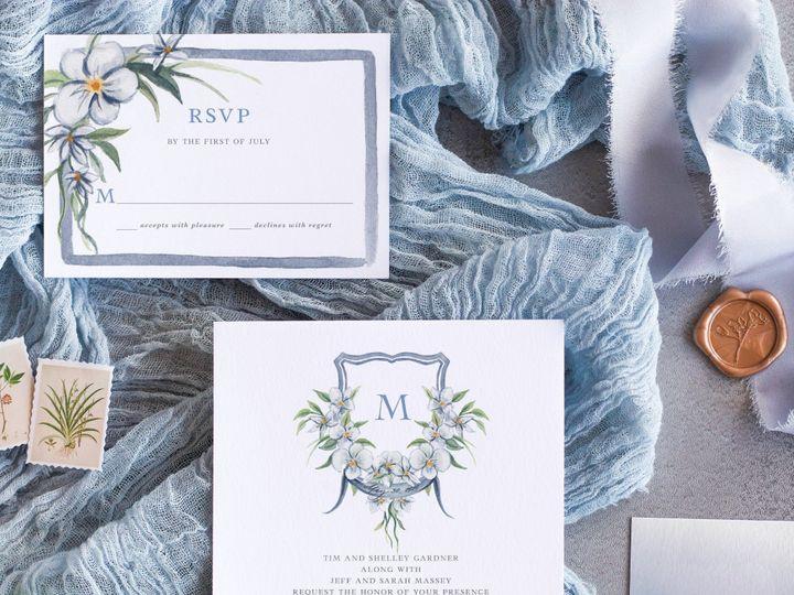 Tmx Whitemagnolia Mockup 1 51 1915045 158584333187684 Wisconsin Dells, WI wedding invitation