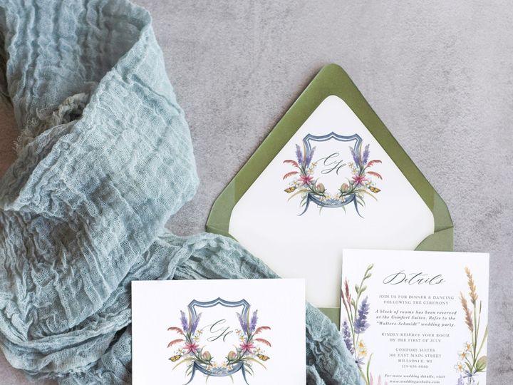 Tmx Wildflowersliner Mockup 51 1915045 158584324959196 Wisconsin Dells, WI wedding invitation