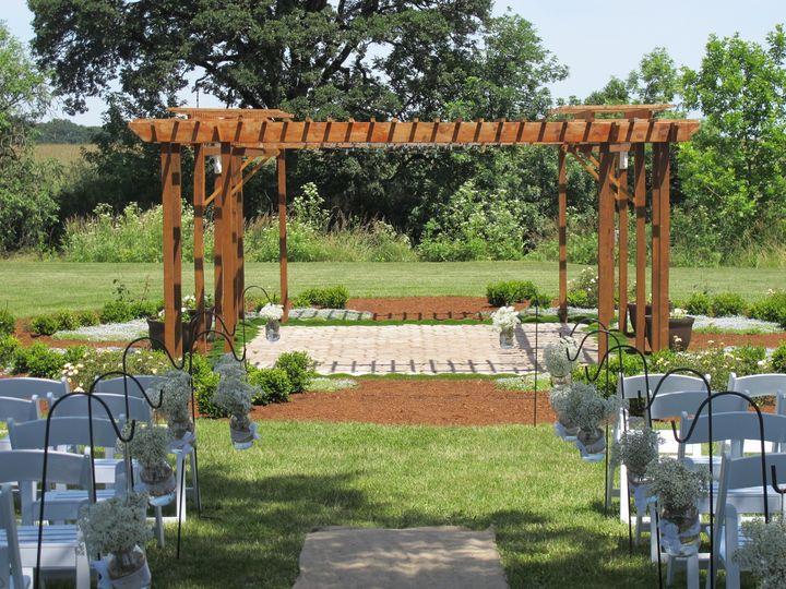 English style rose garden and pergola