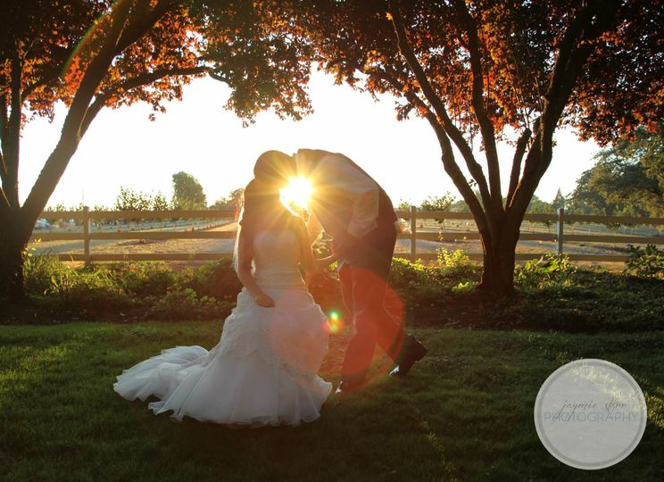 Sunset Romance at Stewart Family Farm Outdoor Weddings