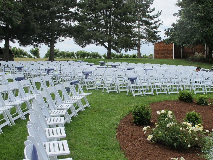 Chairs included at Stewart Family Farm Outdoor Weddings