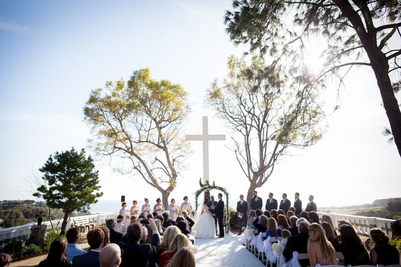 Ceremony at Serra Retreat in Malibu.