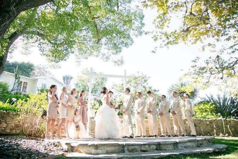 Danielle & Kailas' garden ceremony at a Private Residence in LA.
