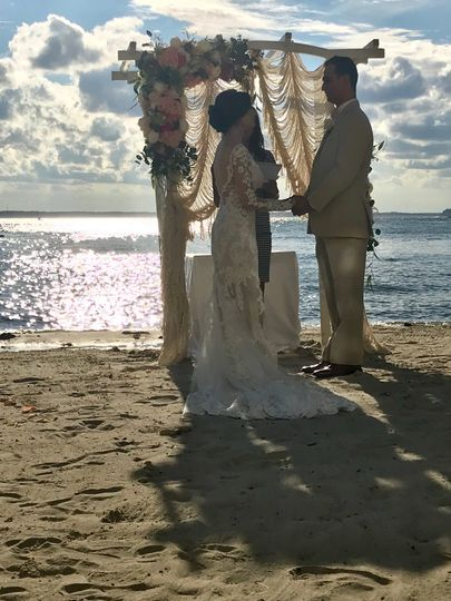 Gorgeous bride and groom