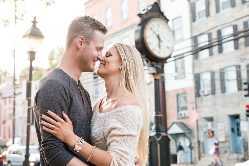 Valerie michelle photography. Baltimore maryland wedding photographer. Engagement photos in downtown...