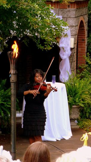 Violinist's live performance