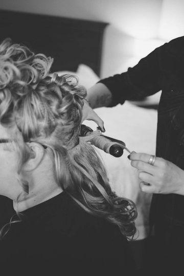 Bridal hair action
