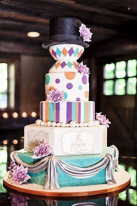 Tmx 1362095963659 Maggiescarnivalcake Greenwich wedding cake