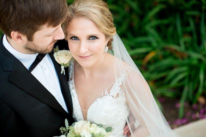 Bridal airbrush makeup