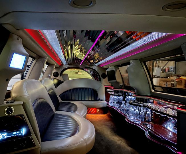 Expedition interior with lights