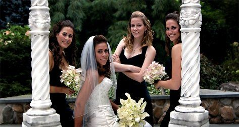 The Bride and her entourage at The CrystalPlaza in New Jersey