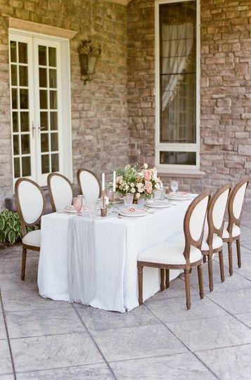 Details for dinner table